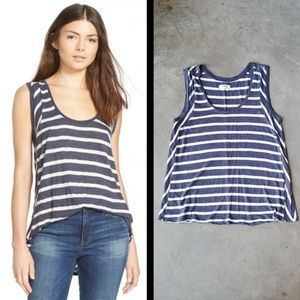 Madewell Cassie Striped Tank navy white small